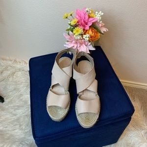 EILEEN FISHER wedge neutral color!
